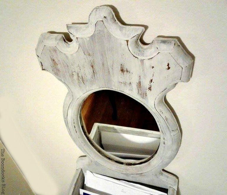 Top view of Mirror, Mirror Makeover with Old Fashioned Milk Paint. www.theboondocksblog.com