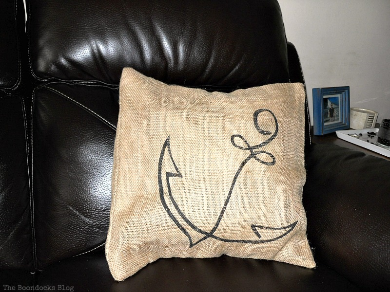 Pillow with an anchor design, Handmade Pillow Cases with Personality by Make Lemonade Shop www.theboondocksblog.com
