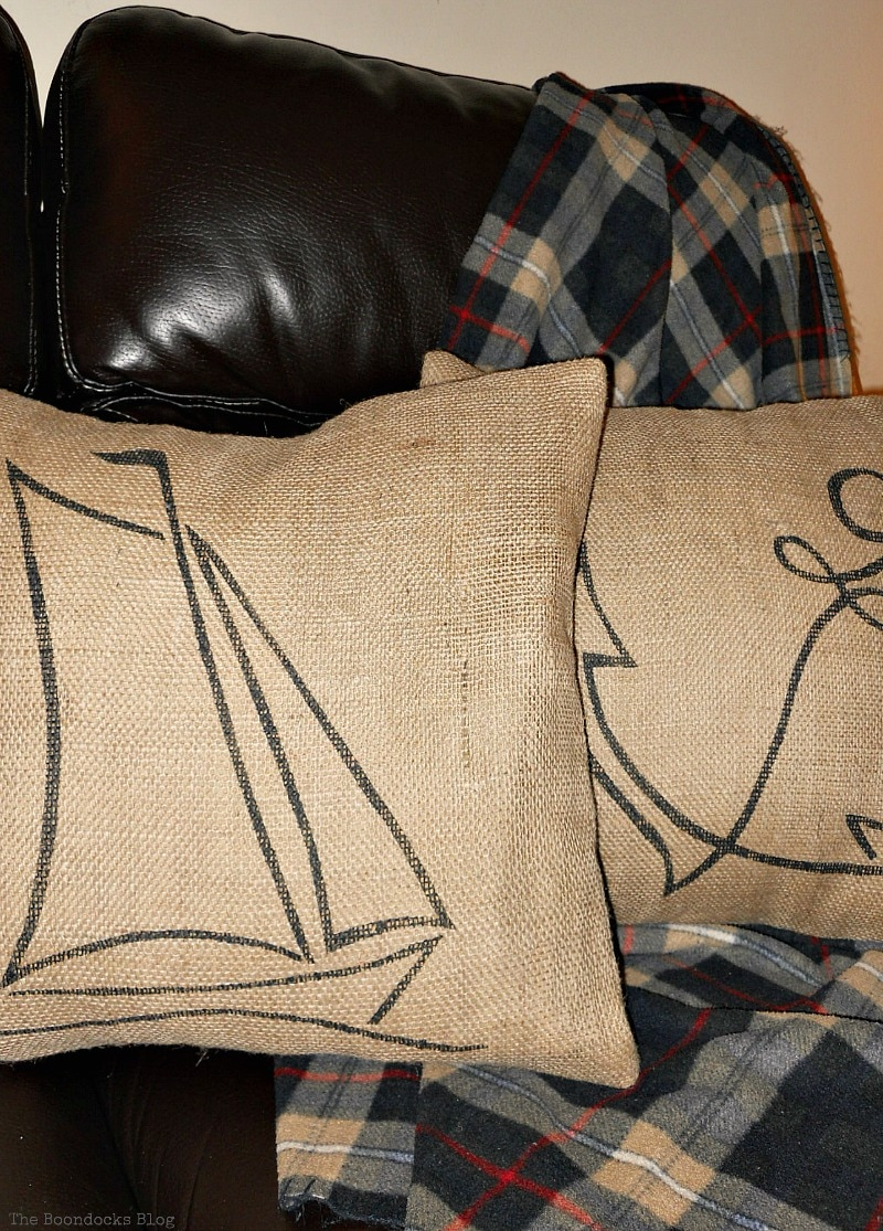 burlap pillow cases with custom design as gift, Handmade Pillow Cases with Personality by Make Lemonade Shop www.theboondocksblog.com