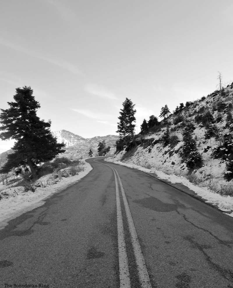 the road back home, Snowy Mountains of Greece, www.theboondocksblog.com