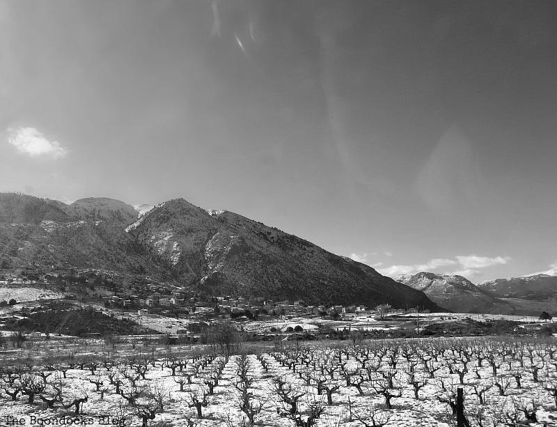 raisin fields near the village, Snowy Mountains of Greece, www.theboondocksblog.com