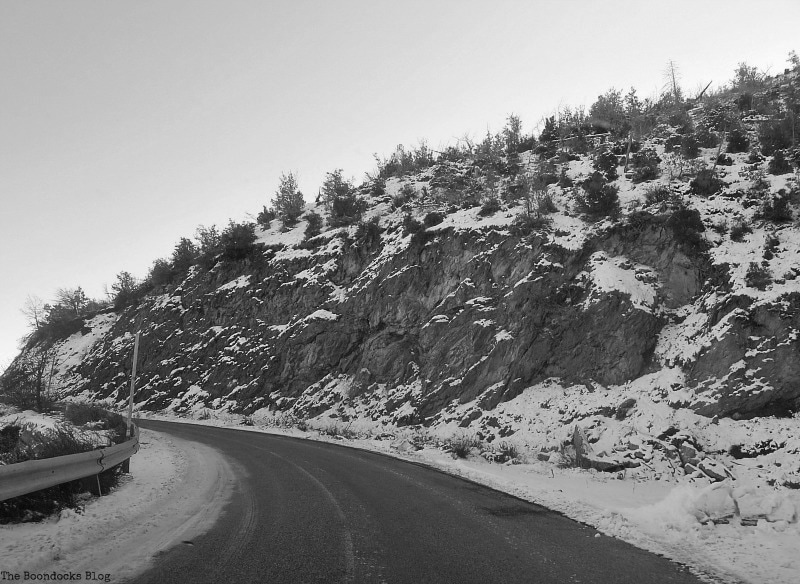 the road up the mountain, Snowy Mountains of Greece, www.theboondocksblog.com