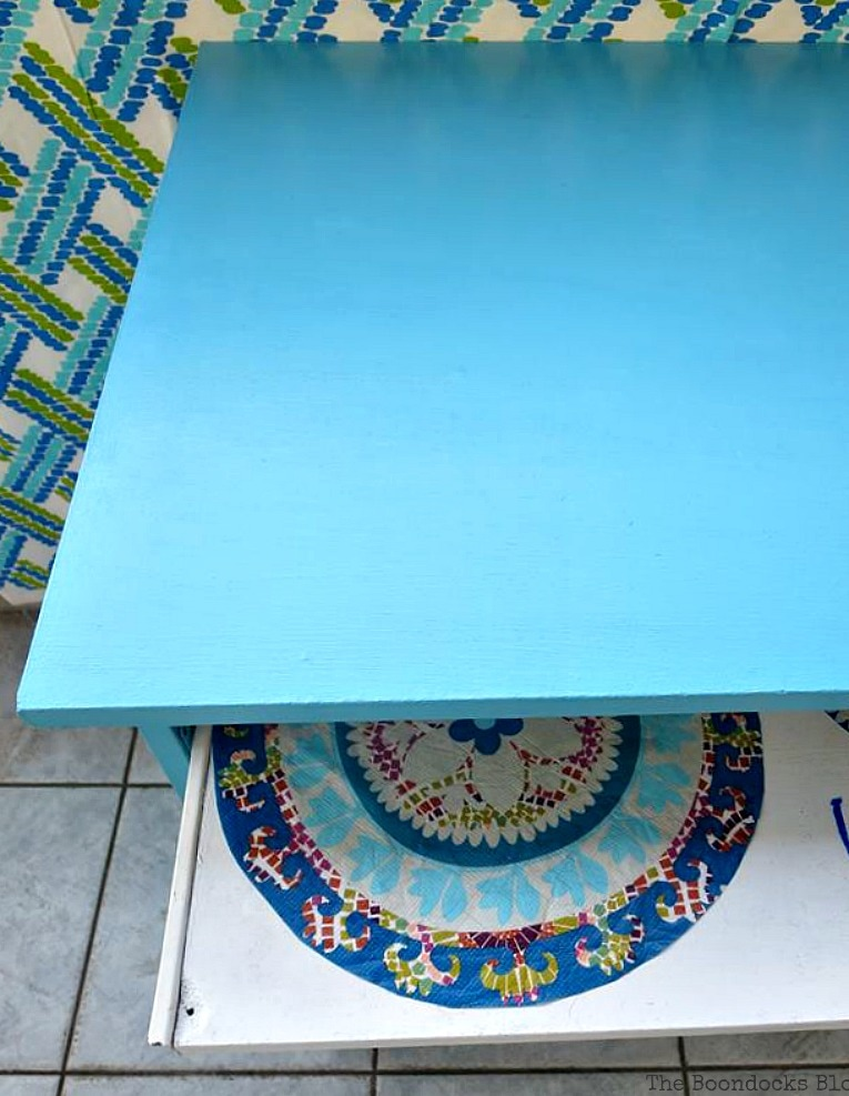 view from the top, Fabulous Ikea Desk Makeover with Chalky Finish Paint, thebookdocksblog.com