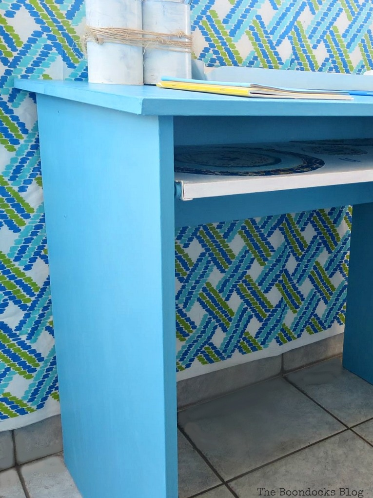 An Ikea desk makeover, Fabulous Ikea Desk Makeover with Chalky Finish Paint, thebookdocksblog.com