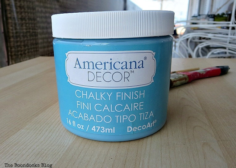 Americana Decor Chalky Finish Paint Escape, Fabulous Ikea Desk Makeover with Chalky Finish Paint, thebookdocksblog.com