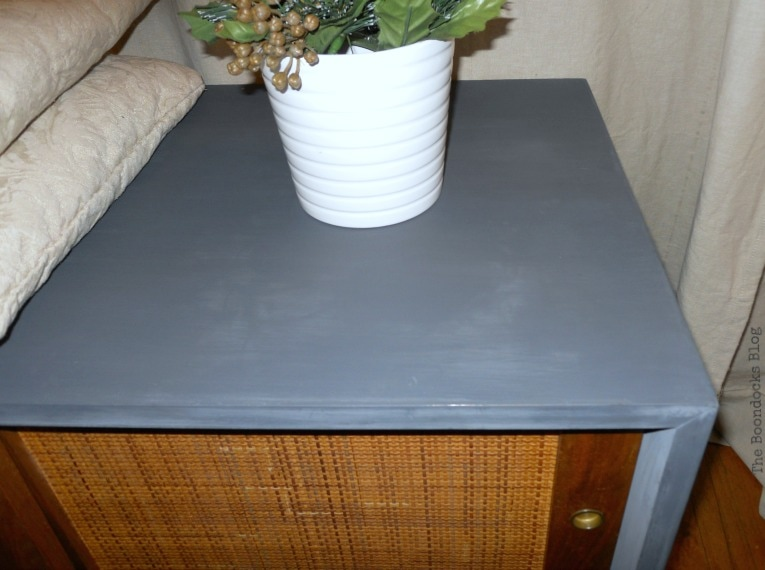 smooth finish on top, Mid-Century Modern Sideboard Upcycled with OFMP www.theboondocksblog.com