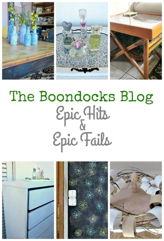 The Boondocks Blog, projects that have withstood time and others that have been utter fails, Epic Hits and Epic Fails, Int'l Bloggers Club Challenge www.theboondocksblog.com