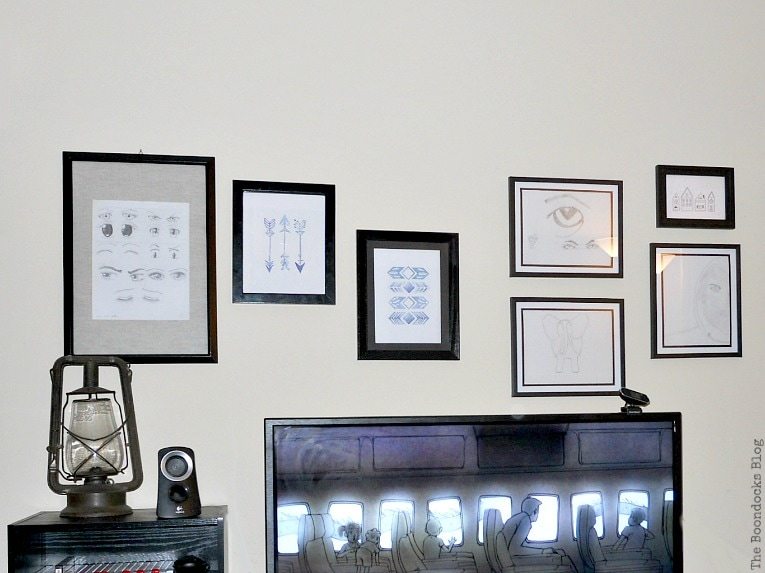 gallery wall, A glimpse into my world and some odds and ends, www.theboondocksblog.com