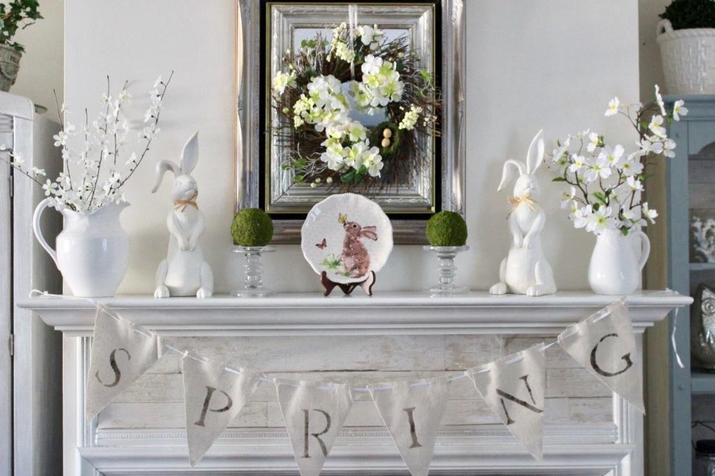 Easter Mantel, Eight Ideas for the Love of Celebrating Spring www.theboondocksblog.com