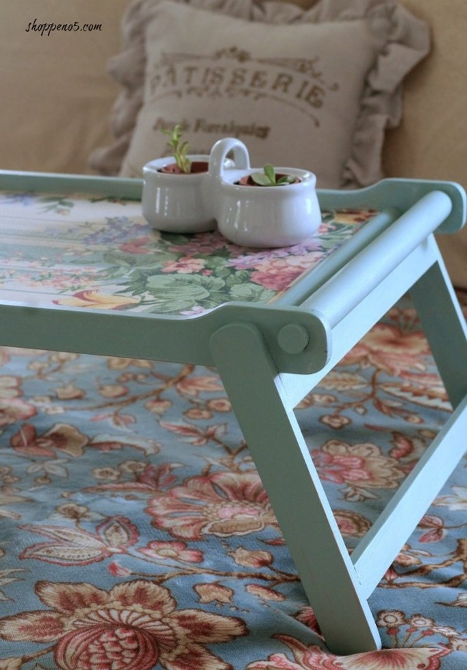 tray makeover Shoppe No. 5, How to Pamper Mom for Mother's Day with DIY Gift Ideas www.theboondocksblog.com
