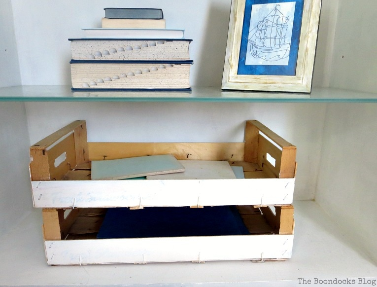 Crates and books, How to Upcycle MDF Bookcases and Avoid Mistakes www.theboondocksblog.com