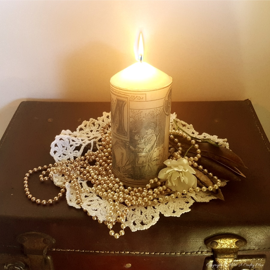 Personalized Candle, A Crafty Mix, How to Pamper Mom for Mother's Day with DIY Gift Ideas www.theboondocksblog.com
