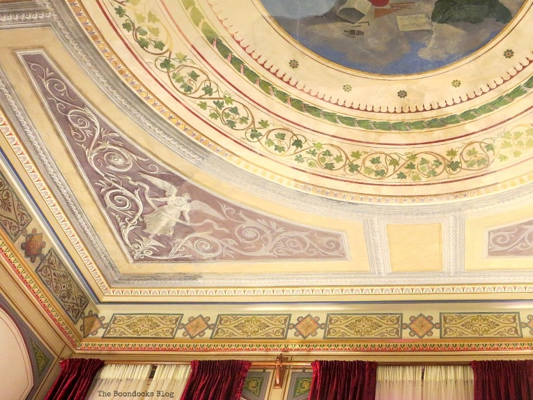 fresco on ceiling, An Old Greek Mansion in the Center of Town, www.theboondocksblog.com