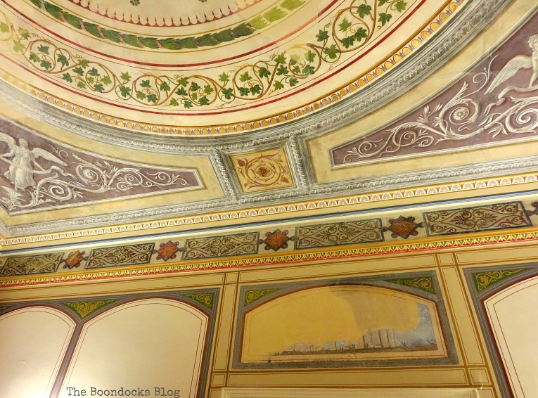 ornate border paintings, An Old Greek Mansion in the Center of Town, www.theboondocksblog.com