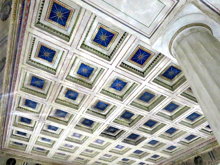 ceiling of main room, An Old Greek Mansion in the Center of Town, www.theboondocksblog.com