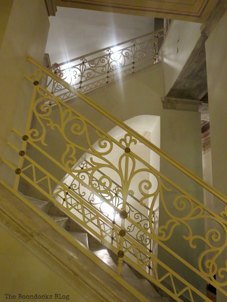 stair rails, An Old Greek Mansion in the Center of Town, www.theboondocksblog.com