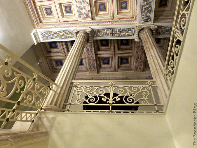 stairway with Ionic columns, An Old Greek Mansion in the Center of Town, www.theboondocksblog.com