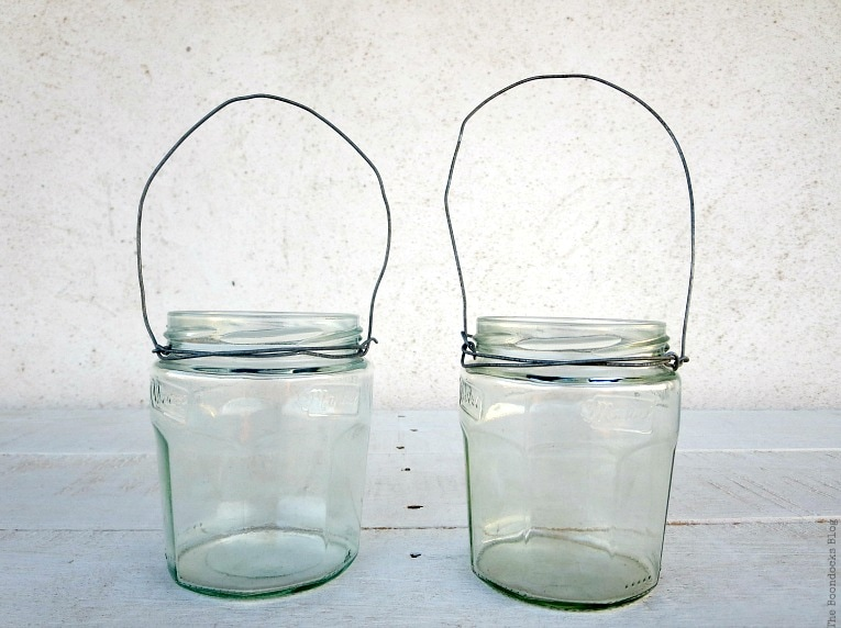 2 jar lanterns, How to make Simple Lanterns with Repurposed Jars, www.theboondocksblog.com