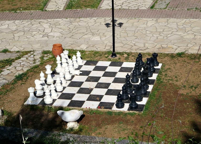 a giant chess set on the grounds, A Road Trip on the Way to the Mountains, www.theboondocksblog.com