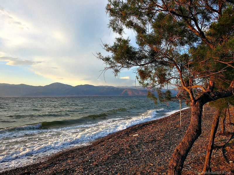 pebble beach with trees, photo of the day June 2017 www.theboondocksblog.com