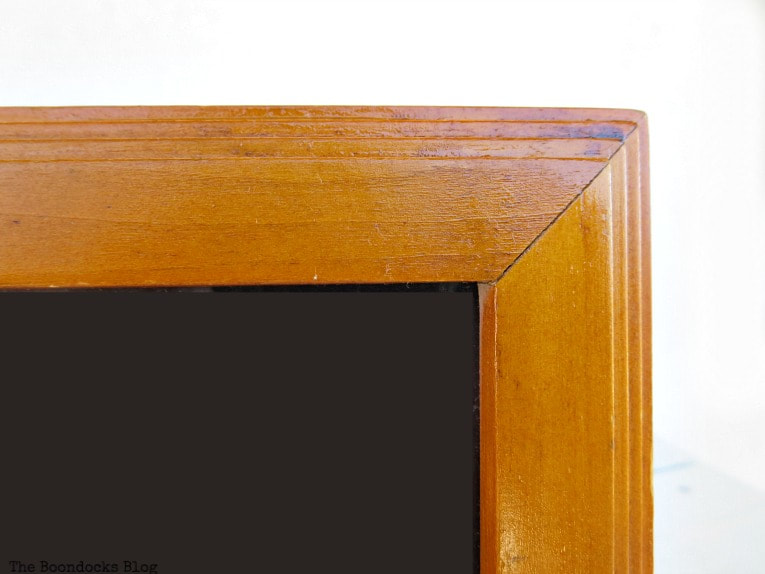 Wooden picture frame, after, How to Easily Clean Wood with Just 2 Ingredients www.theboondocksblog.com