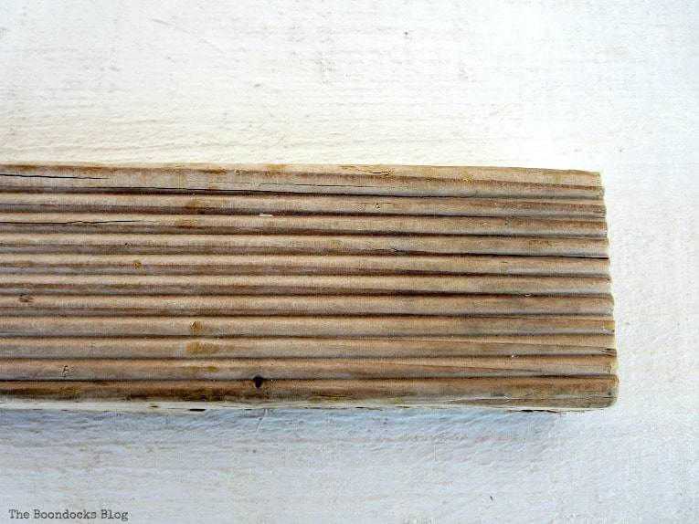 A piece of wood, before, How to Easily Clean Wood with Just 2 Ingredients www.theboondocksblog.com