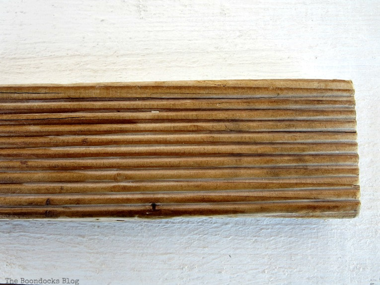 A piece of wood, after applying mixture, How to Easily Clean Wood with Just 2 Ingredients www.theboondocksblog.com