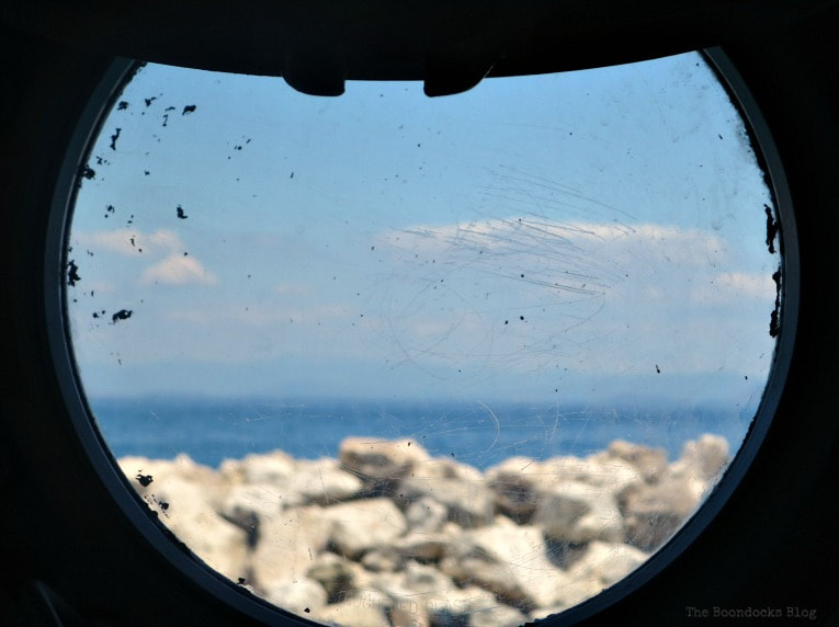 Ship window, Kefalonia in Blue - Enjoying the beaches of the Greek Island, www.theboondocksblog.com