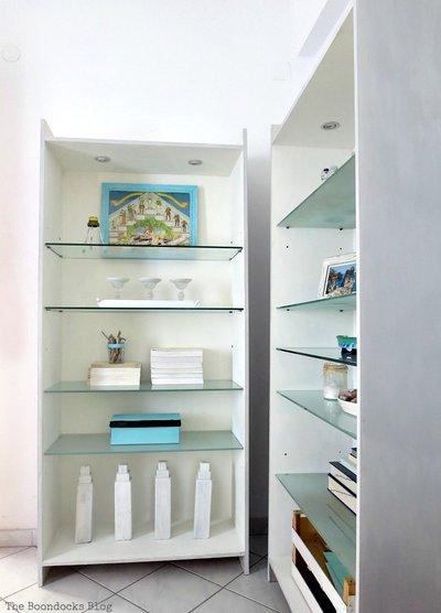 upcylced bookshelves