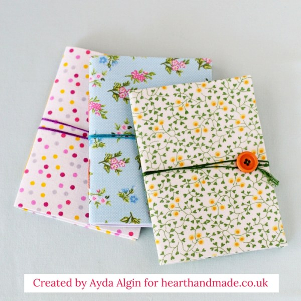 Custom Notebooks from Heart Handmade uk, 16 Fun and Easy Back to School DIY Gift Ideas www.theboondocksblog.com