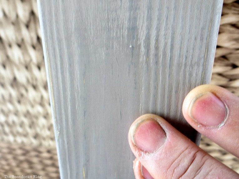 Adding wax to the wood, How to Improve an Ikea Hejne with Paint www.theboondocksblog.com