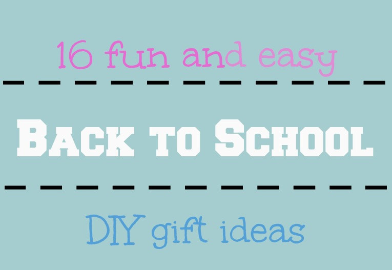 Logo, 16 Fun and Easy Back to School DIY Gift Ideas www.theboondocksblog.com