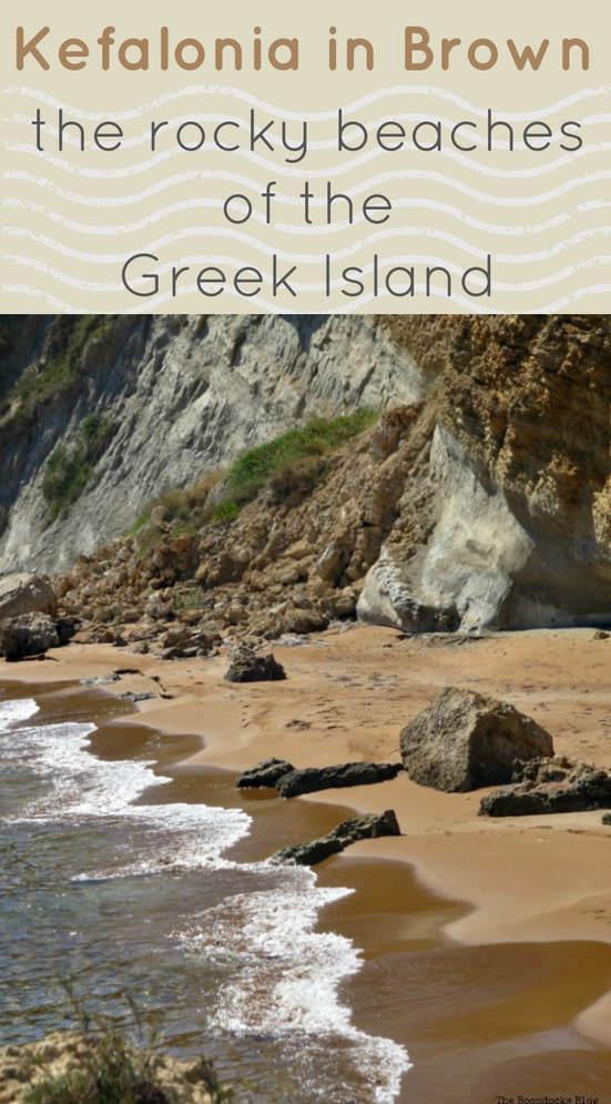 a photo essay with the rocky beaches of kefalonia, a Greek Ionian Island, #kefalonia #greece #travel #aroundtheglobe #greekislands #ioniansea #ionianislands #greekbeaches Kefalonia in Brown - The Rocky Beaches of the Island www.theboondocksblog.com