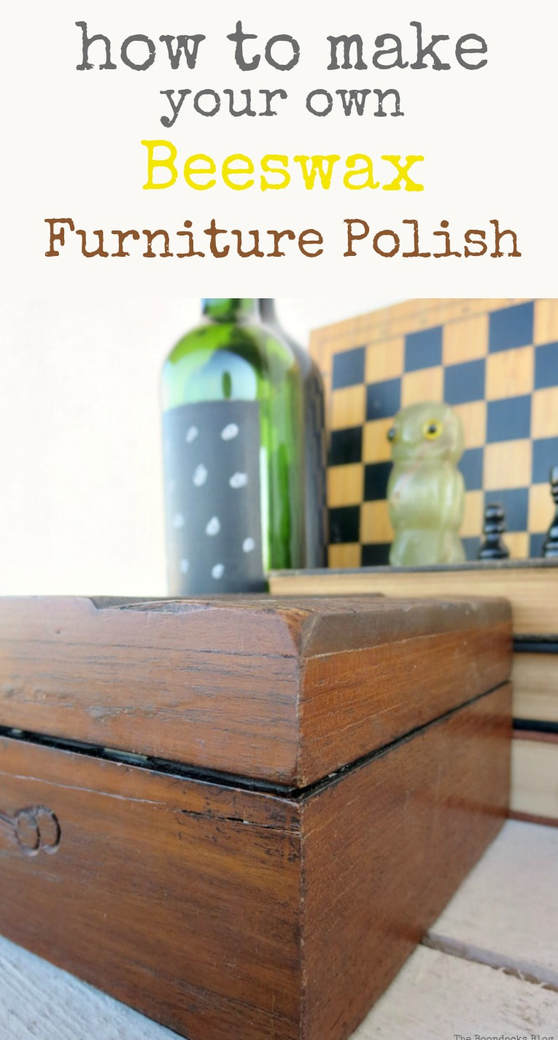 Using olive oil and beeswax you can make your own homemade beeswax furniture polish. It is thrifty, green and good for your skin. #beeswax #furniturepolish #beeswaxforfurniture #furnituresealant #woodsealant #woodprotection How to Make Your Own Beeswax Furniture Polish, www.theboondocksblog.com