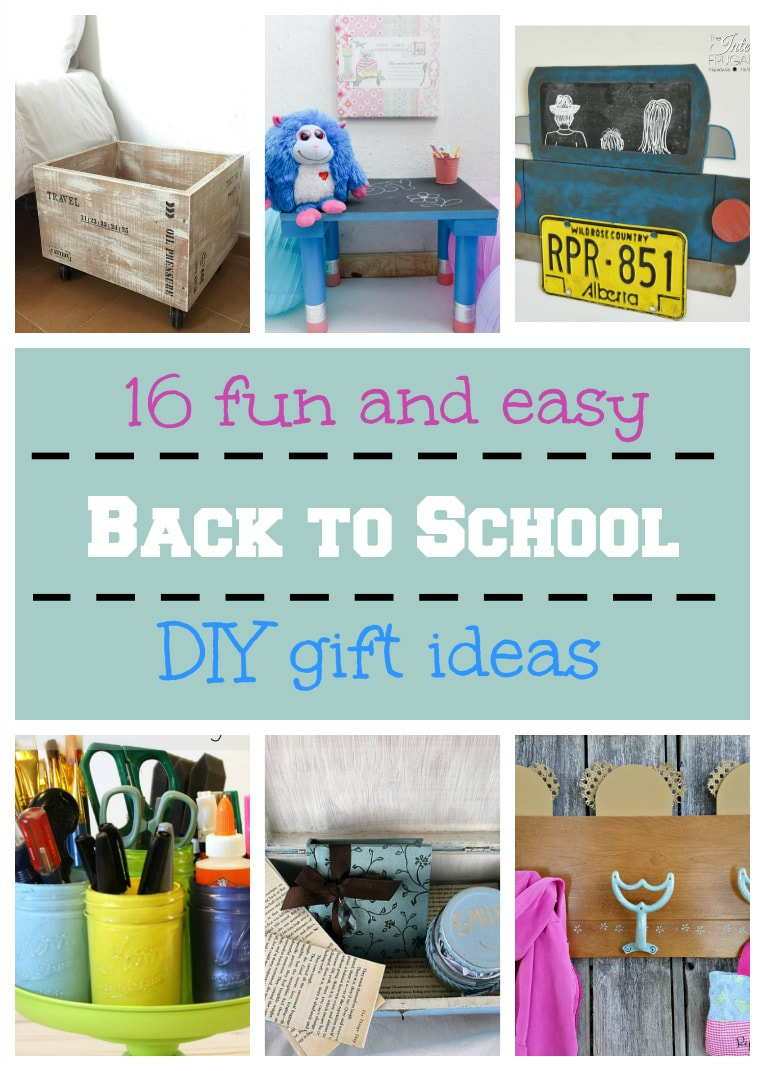 Getting the kids ready for school can be fun and easy with these 16 DIY gift ideas, 16 Fun and Easy Back to School DIY Gift Ideas www.theboondocksblog.com
