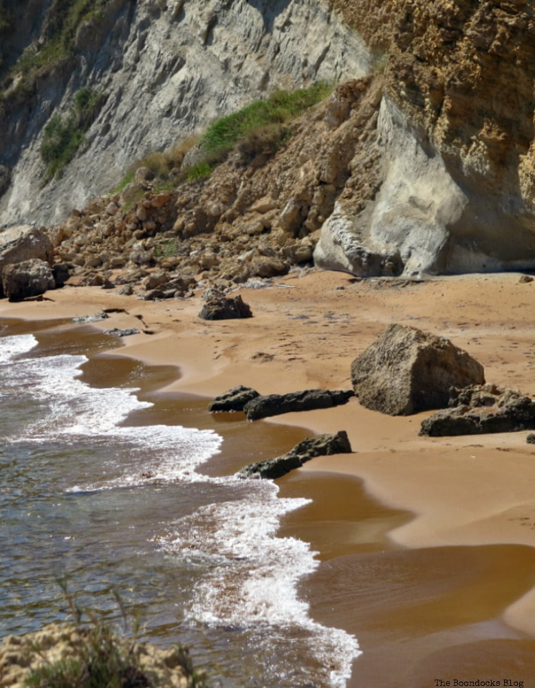 sea meets sand and rocks, Kefalonia in Brown - The Rocky Beaches of the Island www.theboondocksblog.com