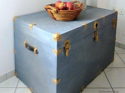 Painted metal trunk