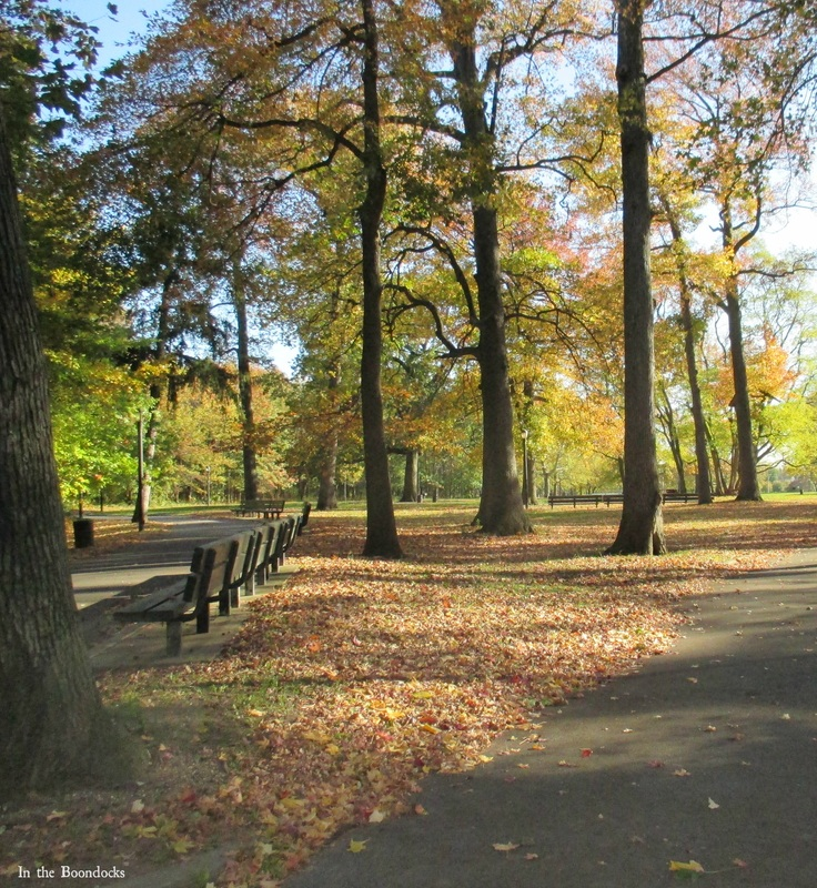 park benches, My Obligatory Post in Praise of Autumn www.theboondocksblog.com