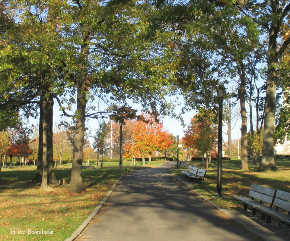 A walkway in the park, My Obligatory Post in Praise of Autumn www.theboondocksblog.com