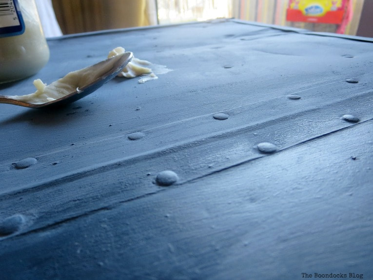 close-up of the surface of the trunk, How to Avoid Mistakes when Up-cycling a Trunk www.theboondocksblog.com