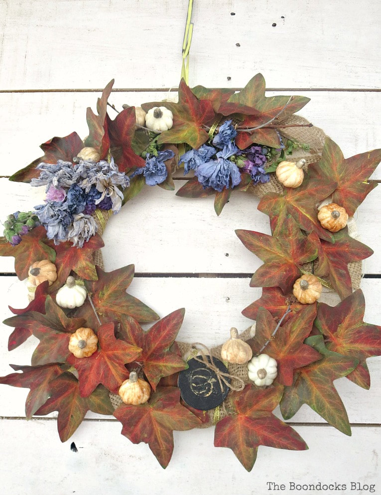 How to Make a Beautiful Dollar Store Fall Wreath www.theboondocksblog.com