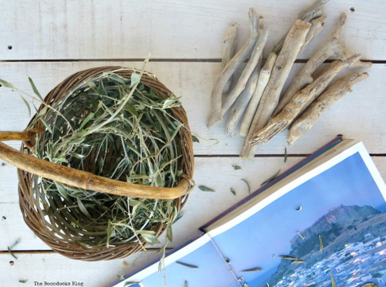 olive branches and driftwood, What I Love Best about Greece www.theboondocksblog.com