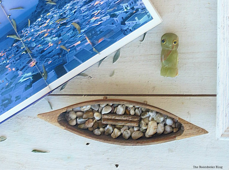 wooden boat and marble owl, What I Love Best about Greece www.theboondocksblog.com