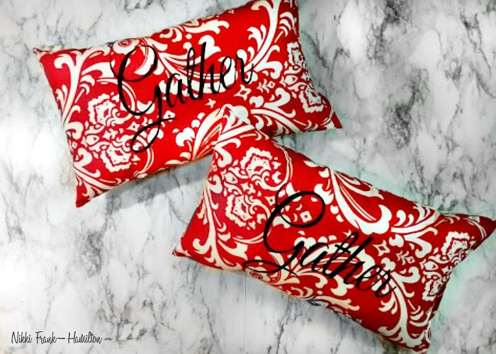 Finished pillows, DIY Graphic Pillow - With Or Without a Sewing Machine, theboondocksblog