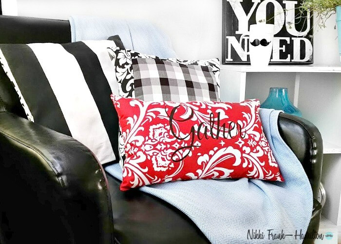 How to make a graphic pillow, DIY Graphic Pillow - With Or Without a Sewing Machine, theboondocksblog