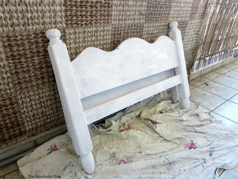 headboard painted white How to Get Rid of the Blues with a Blue Daybed www.theboondocksblog.com
