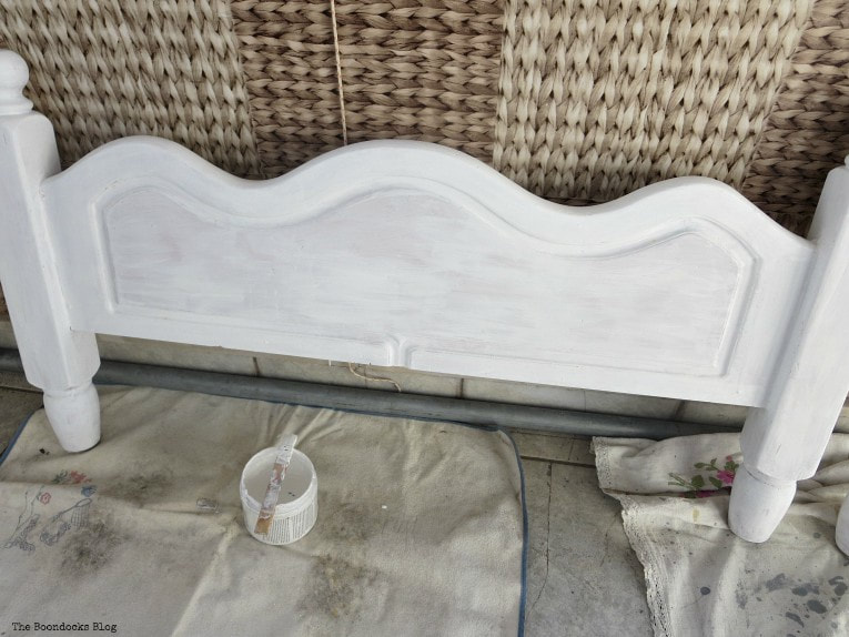 foot board with carved work, How to Get Rid of the Blues with a Blue Daybed www.theboondocksblog.com