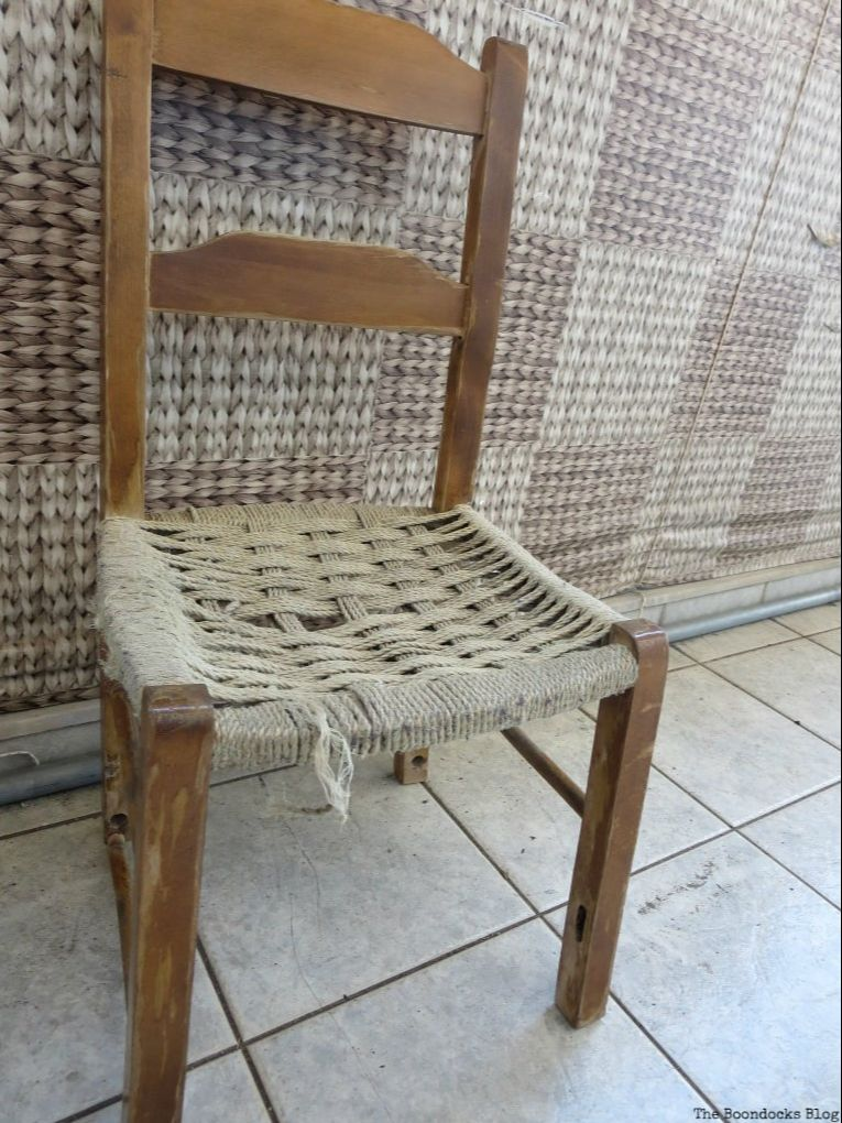 old wooden chair, How to Make a Cool Kitchen Organizer from a Chair www.theboondocksblog.com