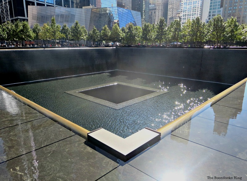 9/11 Memorial Reflecting Pools New York, A Trip with a One-Way Ticket - Fantastic Fifty www.theboondocksblog.com