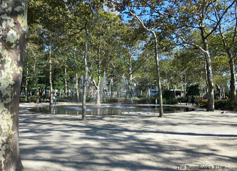 Fountains at Battery Park NY, Photo of the Day for October 2017 www.theboondocksblog.com